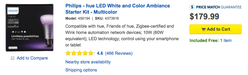 philips hue starter kit best buy