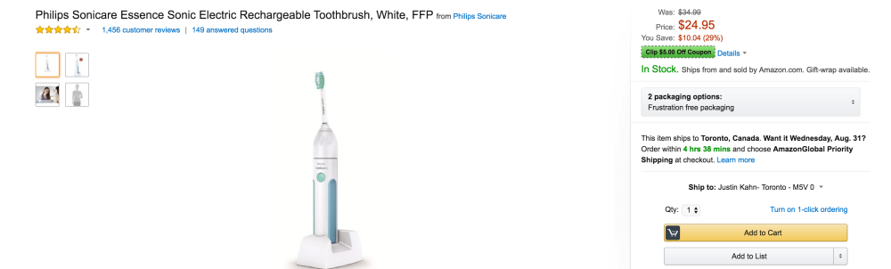 Philips Sonicare Essence Sonic Electric Rechargeable Toothbrush-sale-01