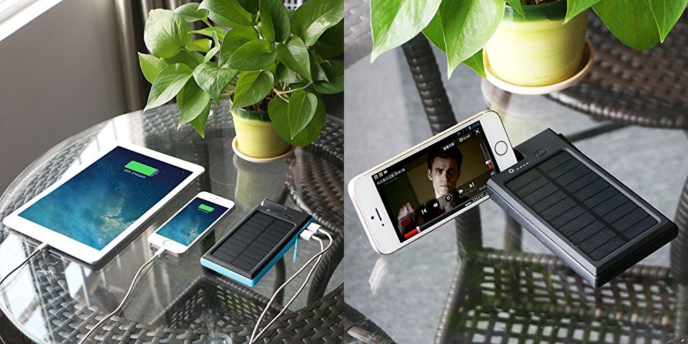 Portable 9000mAh Solar Charger Panel Power Bank