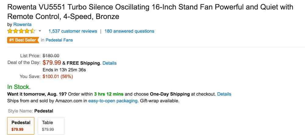 Rowenta Turbo Silence Oscillating 16-Inch Stand Fan-6