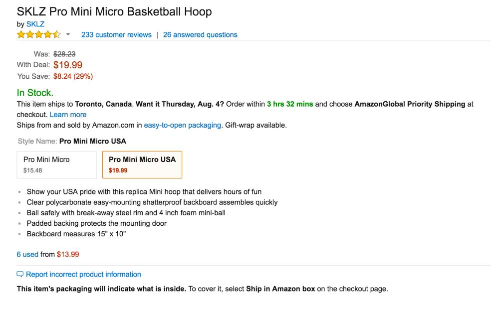 SKLZ Pro Mini Micro Basketball Hoop USA-4