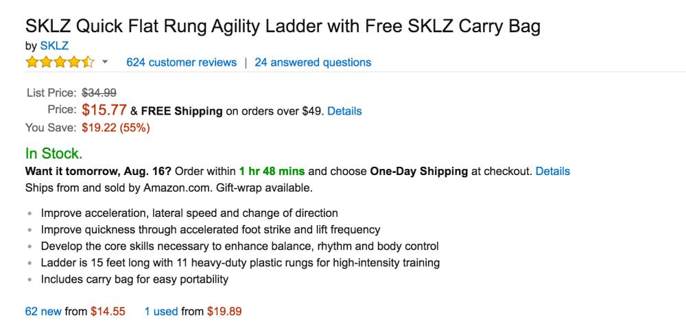 SKLZ Quick Flat Rung Agility Ladder-4
