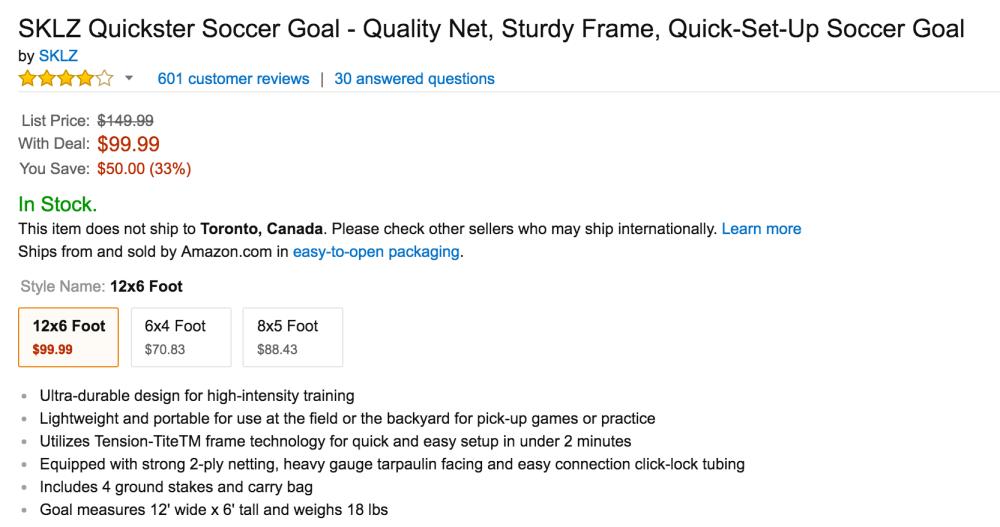 SKLZ Quickster Soccer Goal-8
