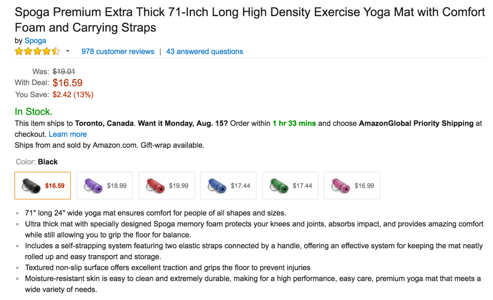 Spoga Premium Extra Thick 71-Inch High Density Exercise Yoga Mat-3