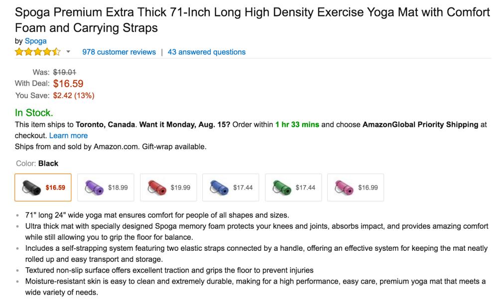 Spoga Premium Extra Thick 71-Inch High Density Exercise Yoga Mat-3