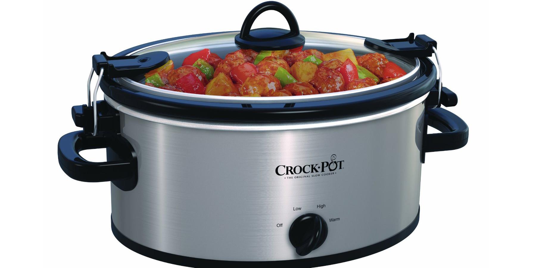 Stainless-Steel Crock-Pot - 4-Quart Oval Slow Cooker (SCCPVL400-3