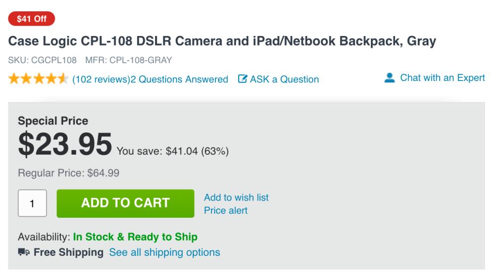 case-logic-adorama-backpack-deal