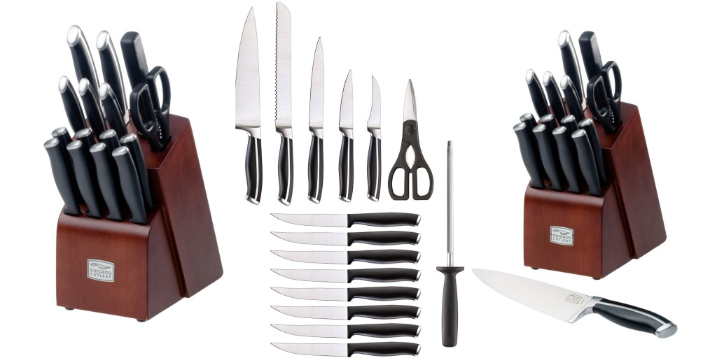 chicago cutlery belmont 16 piece block knife set