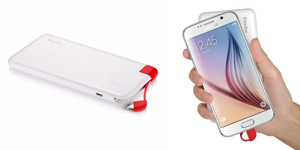 EasyAcc Cable 4000mAh Power Bank Ultra-Slim Portable External Battery