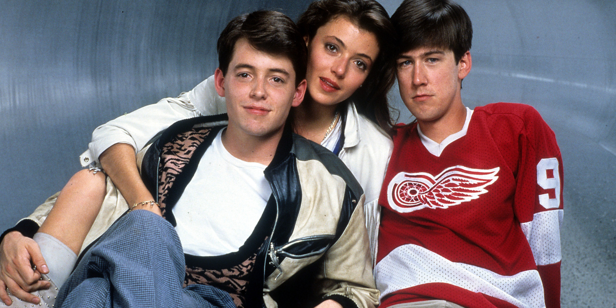 Matthew Broderick, Mia Sara, and Alan Ruck publicity portrait for the film 'Ferris Bueller's Day Off', 1986. (Photo by Paramount/Getty Images)