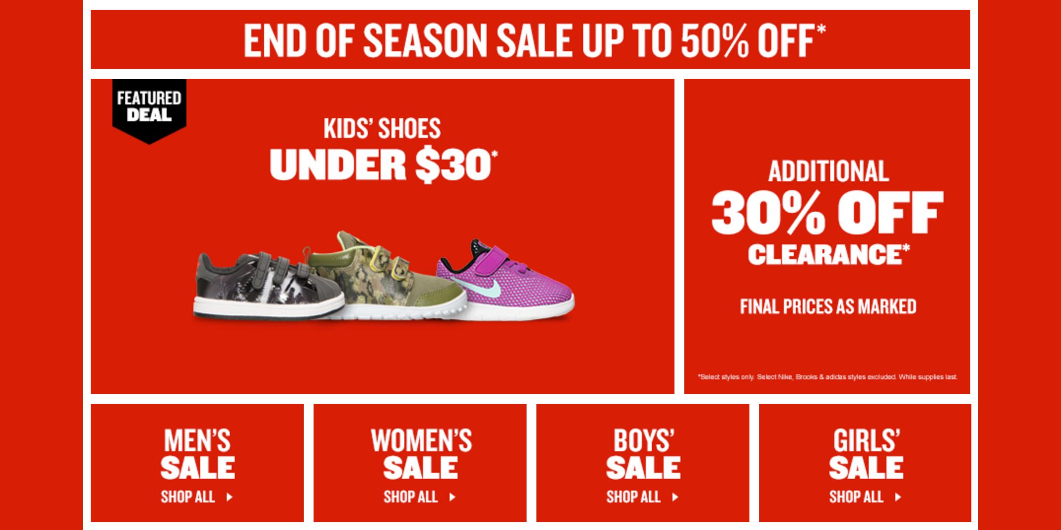 Season Sale has Nike Running Shoes