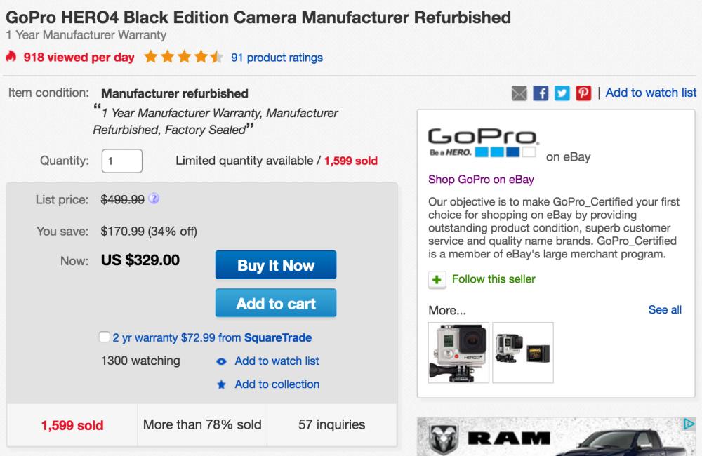 gopro-hero4-black-refurb-ebay-deal