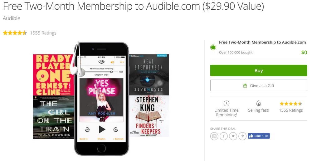 groupon-audible-two-month-trial