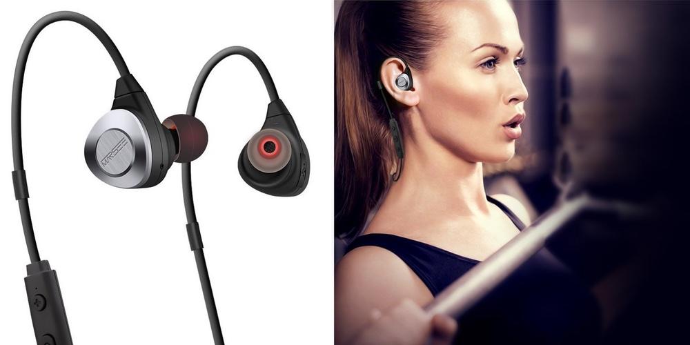MARSEE Bluetooth Wireless Back Head In-Ear Sports Earphones