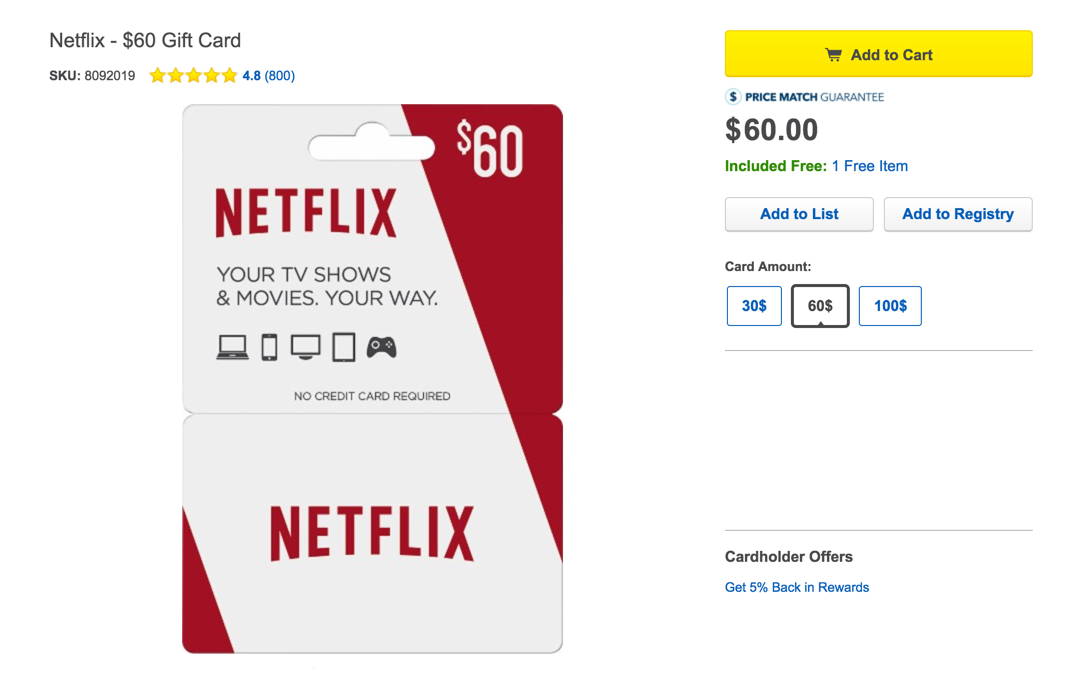 how to get netflix without credit card or paypal