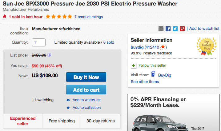 sunjoe-electric-pressure-washer-deal