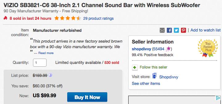 vizio-soundbar-ebay-deal