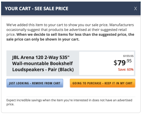 JBL Arena 120 2 Way 55 Inch Wall Mountable Bookshelf Loudspeakers 82 Shipped Reg 135