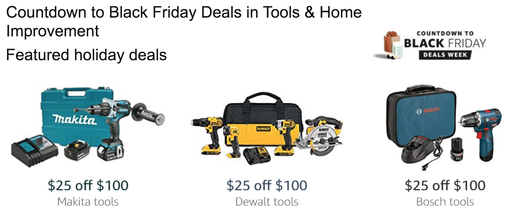 Save 25 Off 100 On Dewalt Bosch And Makita Tools At Amazon 2 Piece Combo Kit 165 Compact Drill 103 More 9to5toys
