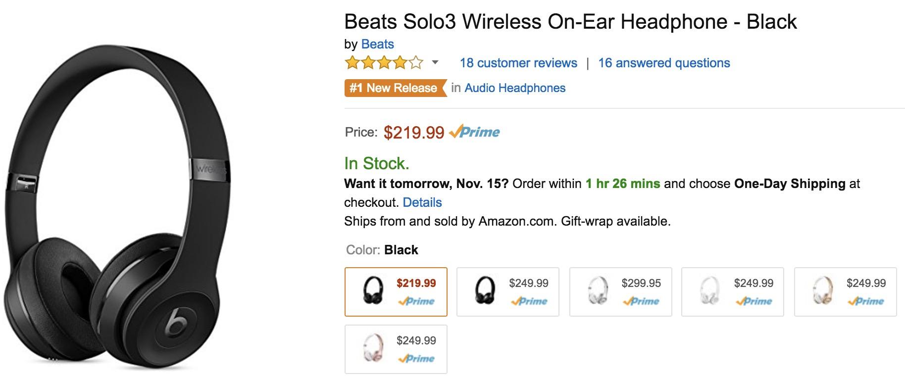 beats-solo3-amazon-deal-219-99