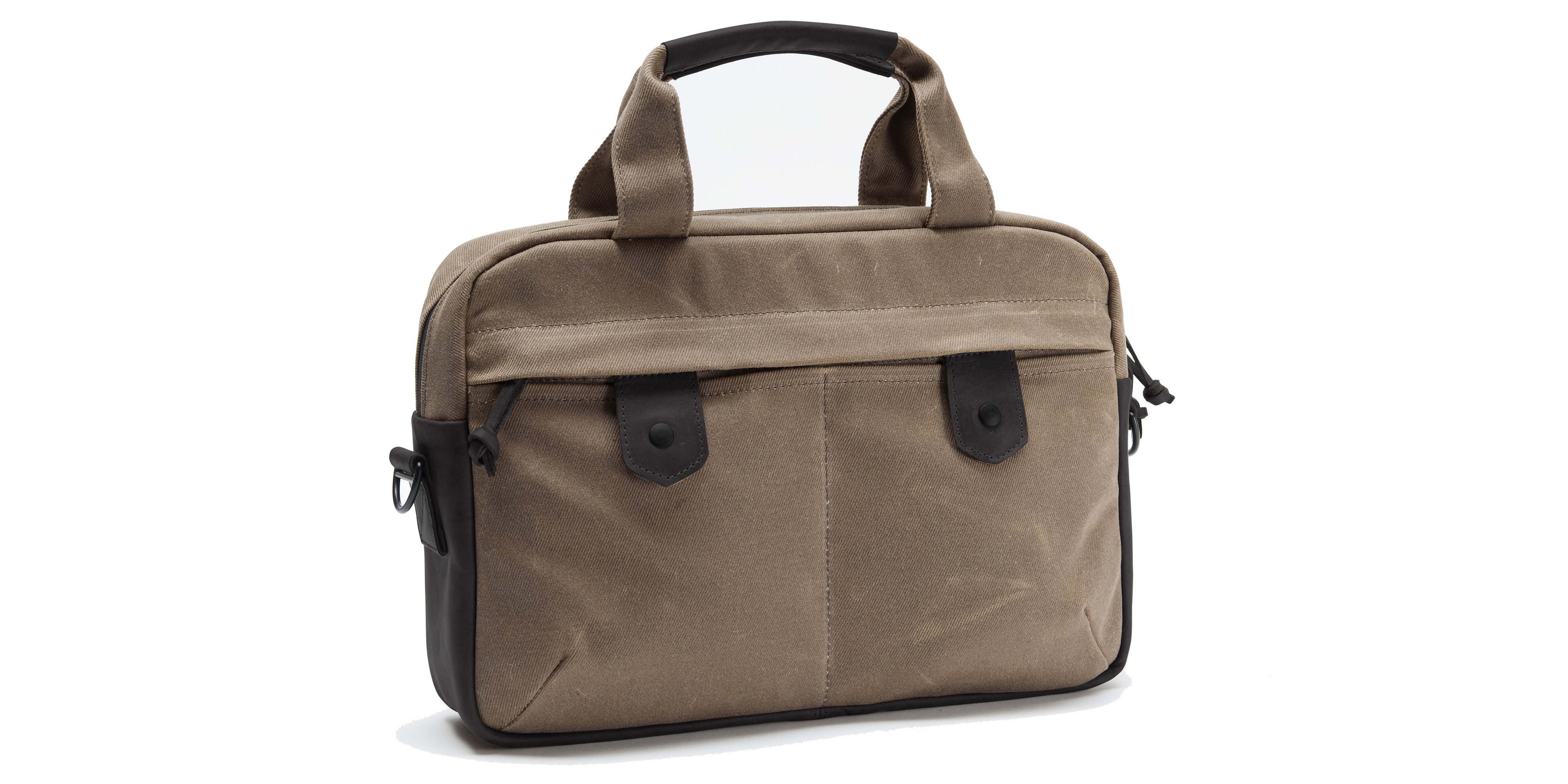 Bolt Briefcase Large Canvas Grizzly