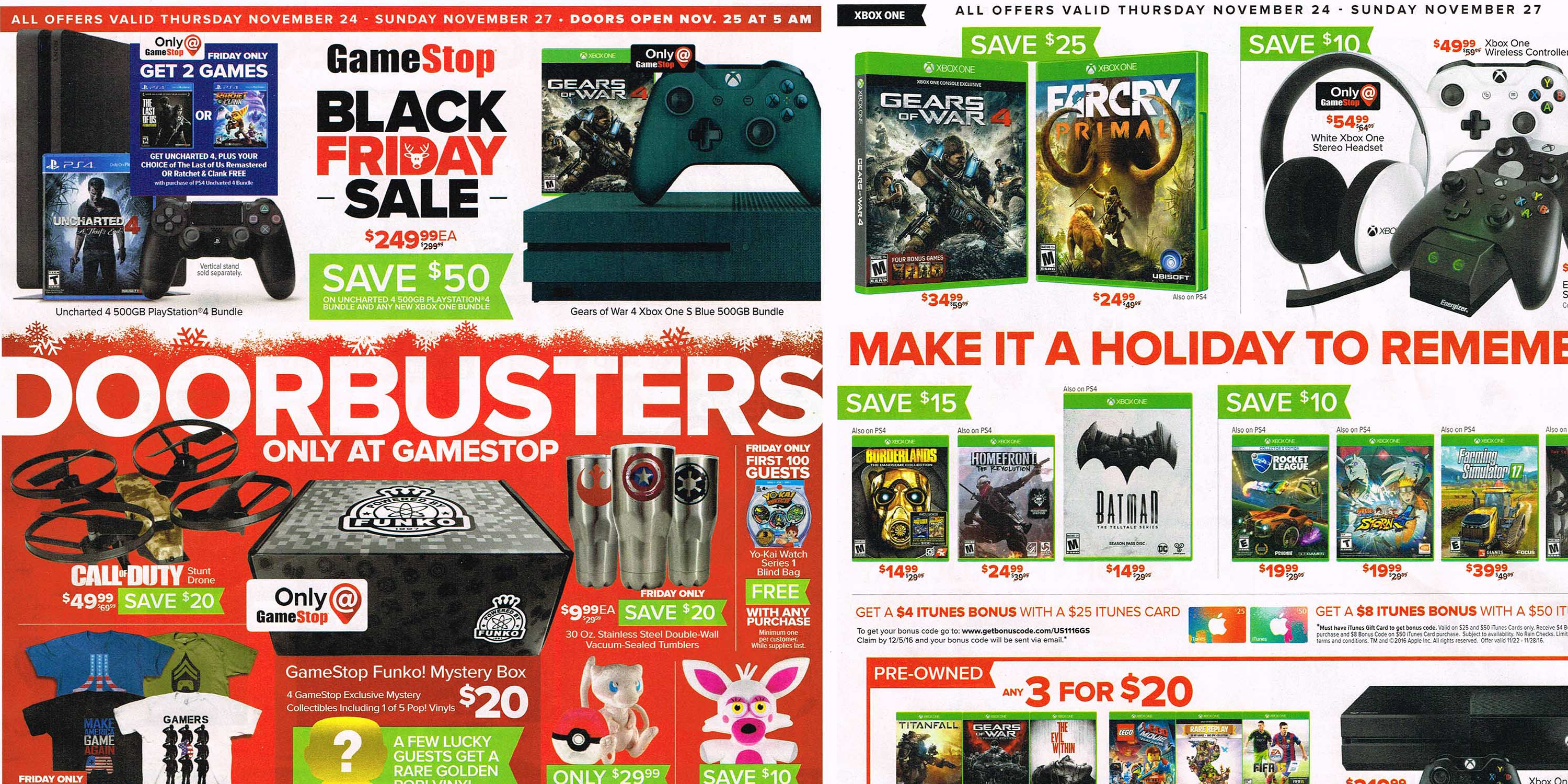 GameStop Black Friday 2016 Ad: PS4 bundle + extra game ...