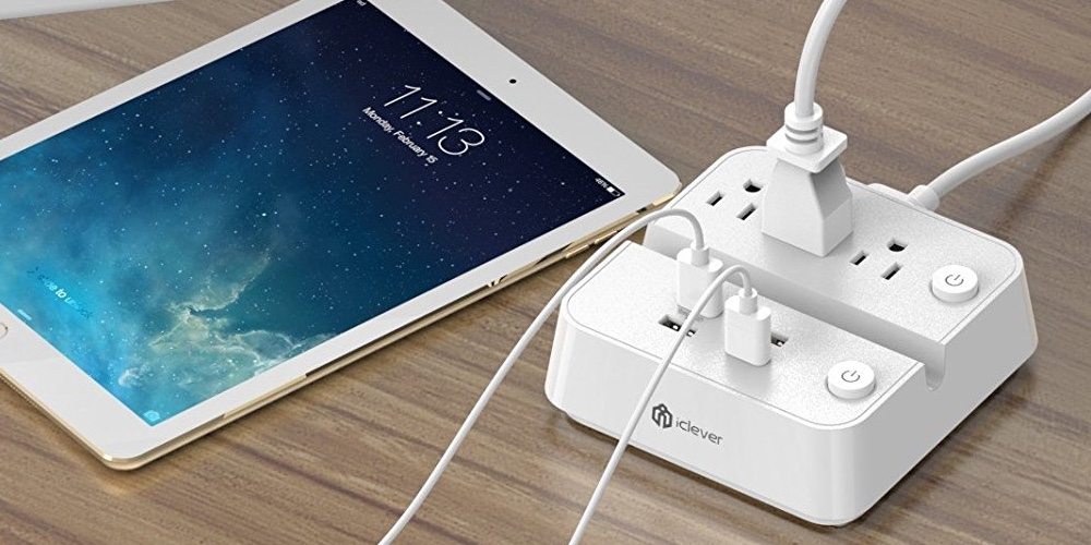 iclever-booststrip-ic-bs02-surge-protector-25w-5a-4-port-usb-charger-plus-3-ac-outlets-power-strip-with-dual-switches-and-phonetablet-dock-white