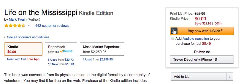 mark-twain-life-mississippi-ebook-amazon-deal