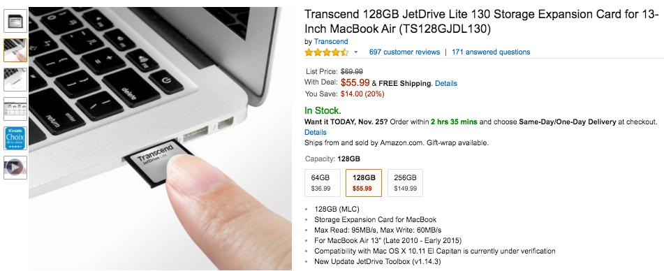 transcend-128-gb-jetdrive-sale-amazon