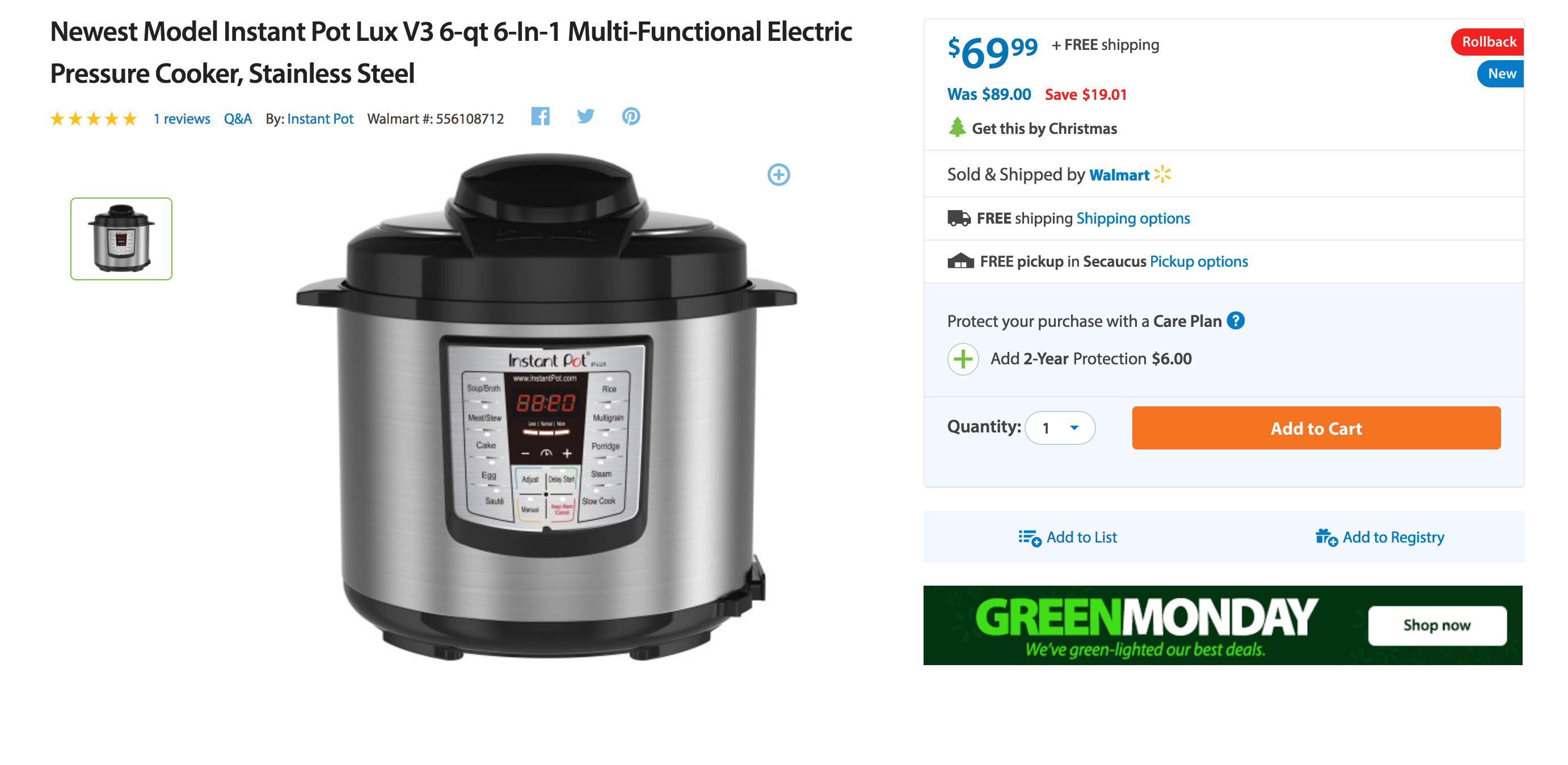 6-quart-instant-pot-ip-lux60-v3-programmable-electric-pressure-cooker-2