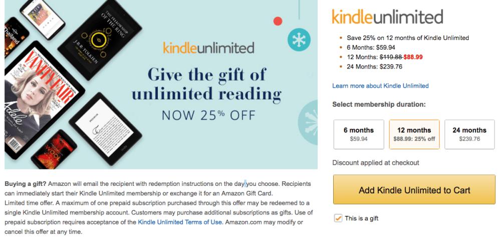 amazon-kindle-membership-holiday-discount