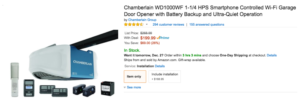 chamberlain-smart-garage-door-opener-amazon-deal