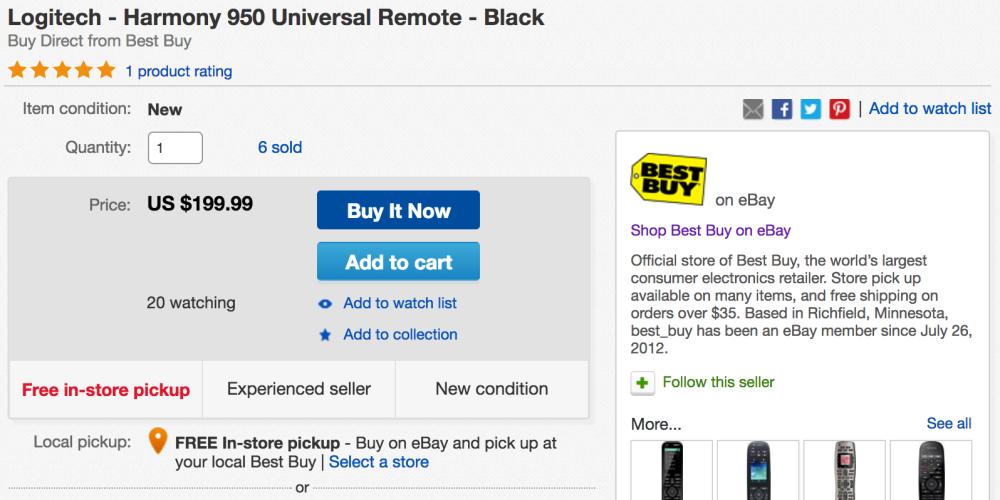logitech-harmony-advanced-ebay-deal