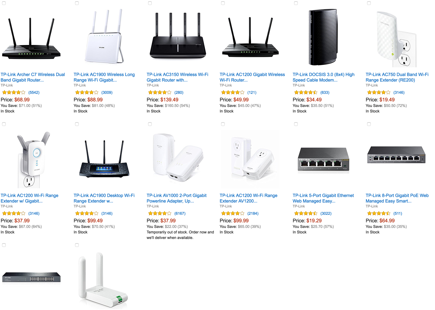 tp-link-networking-products