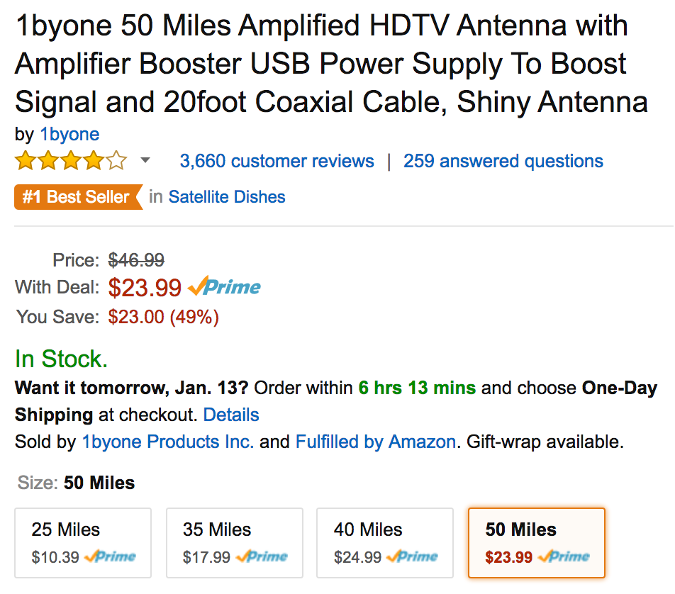 1byone-50-mile-antenna-amazon-deal