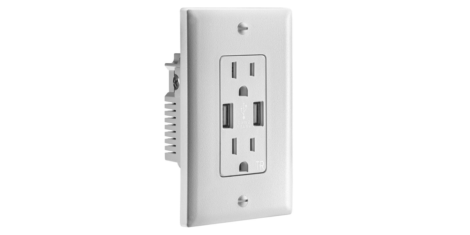 Insignia's in-wall outlet packs 3.6A and two USB ports for $10 (Reg. $30)