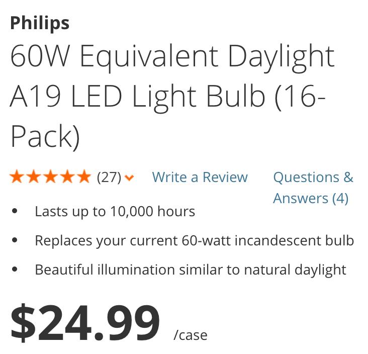 philips-16-pack-led-light-bulb-deals
