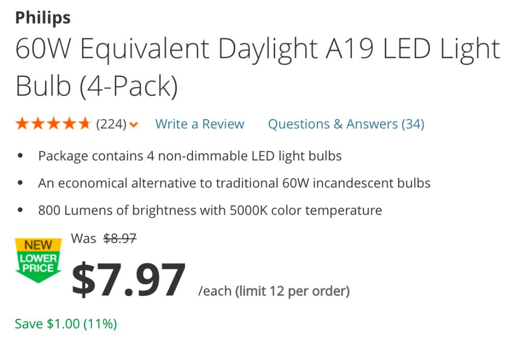 philips-4-pack-led-light-bulb-deals
