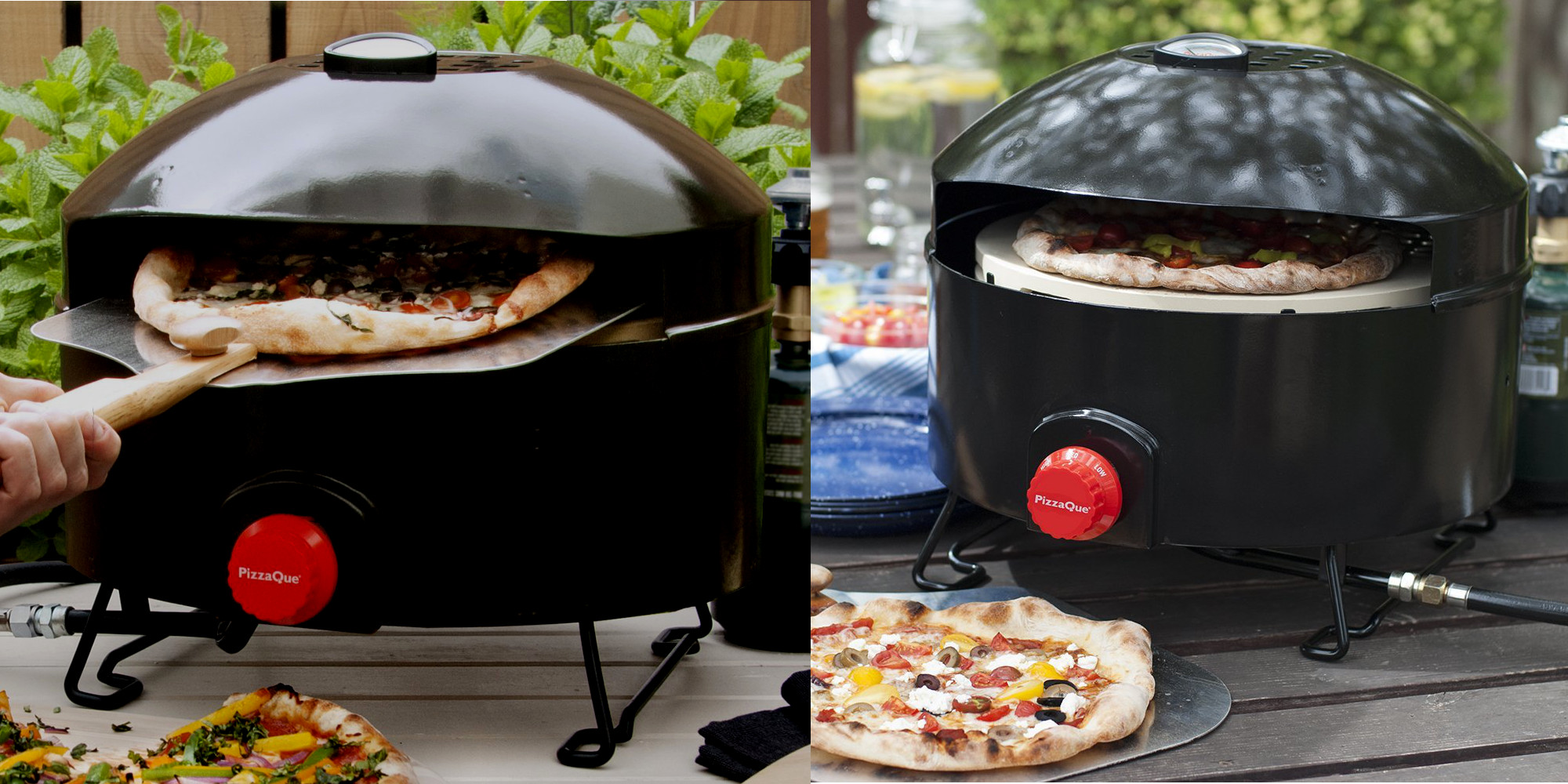 The Steel Pizzaque Outdoor Oven W 14 Inch Stone Is Down