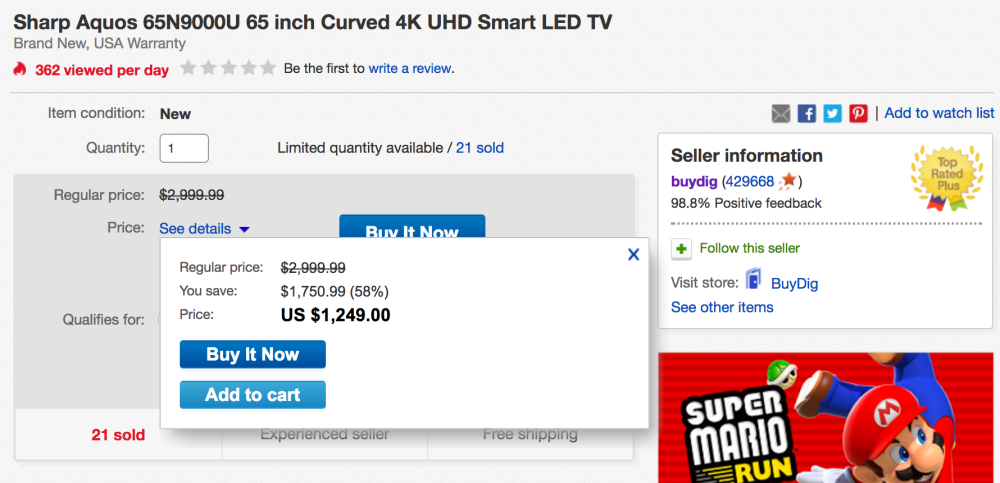 sharp-65-inch-curved-4k-deal