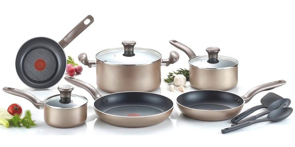 t-fal-c067sc-metallics-nonstick-thermo-spot-heat-indicator-cookware-set-12-piece-bronze