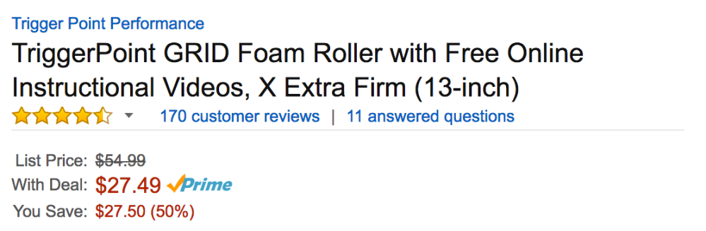 trigerpoint-foam-roller-amazon-deal