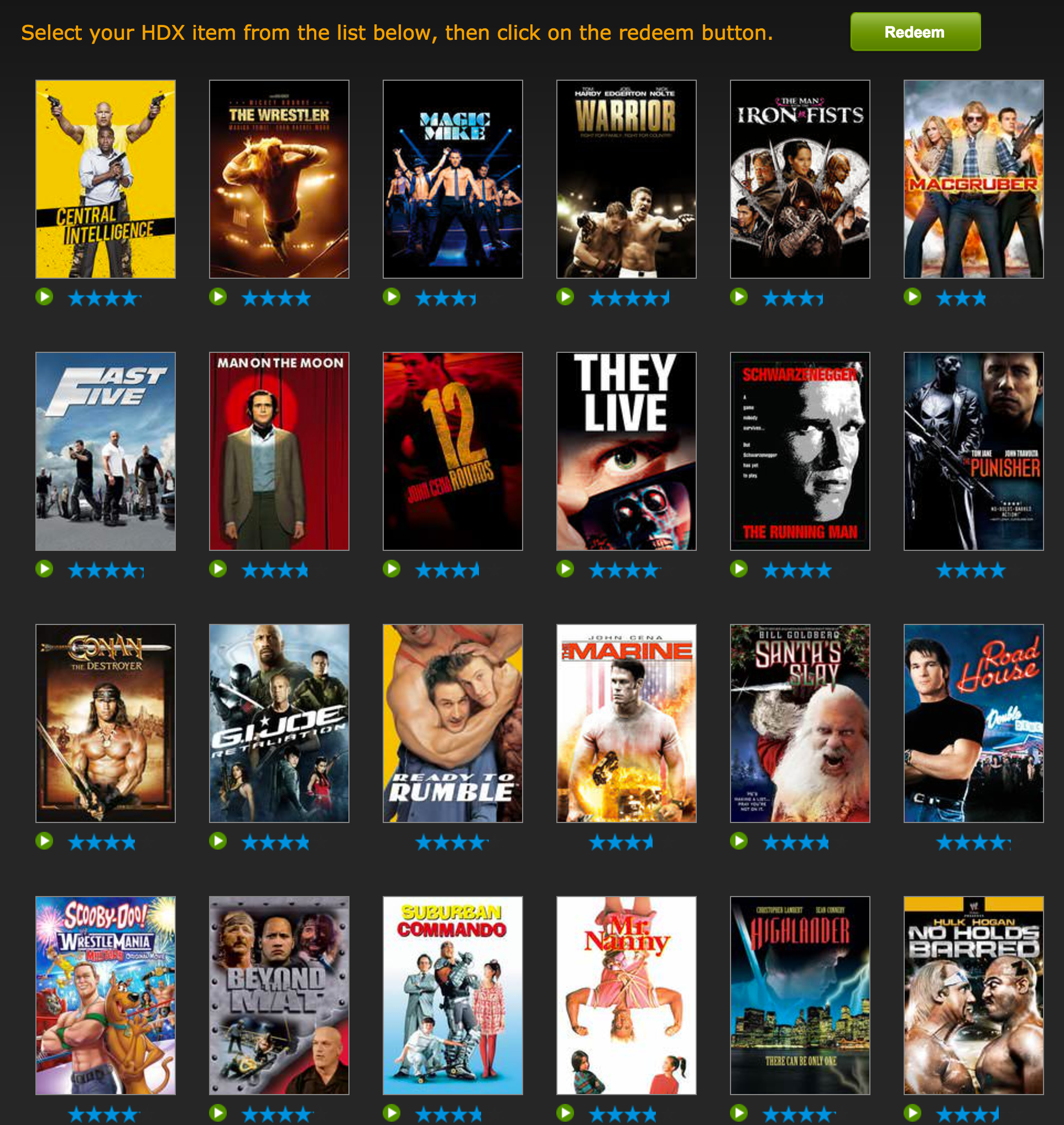 VUDU offers one free movie rental: Central Intelligence