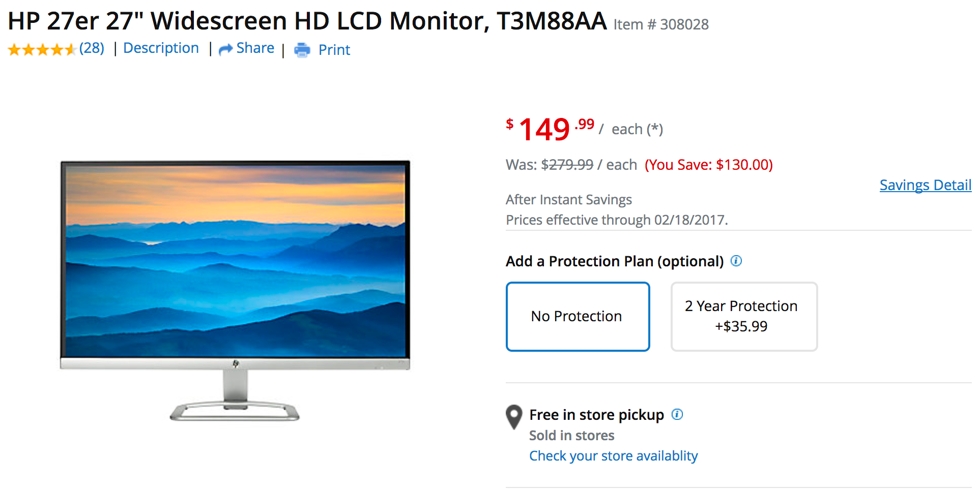 Take home one of these 27-inch 1080p Monitors w/ HDMI: Dell