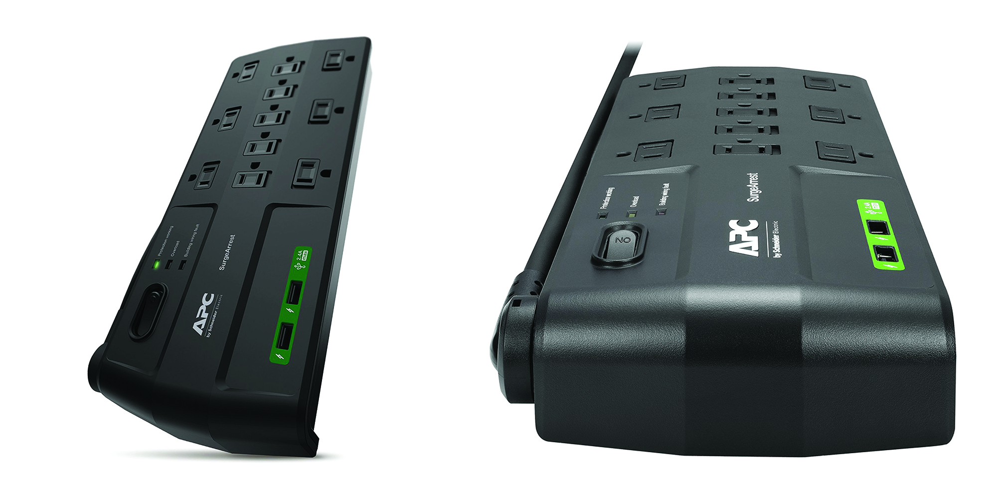 APC 11-Outlet Surge Protector Power Strip with USB Charging Ports 2880 Joules