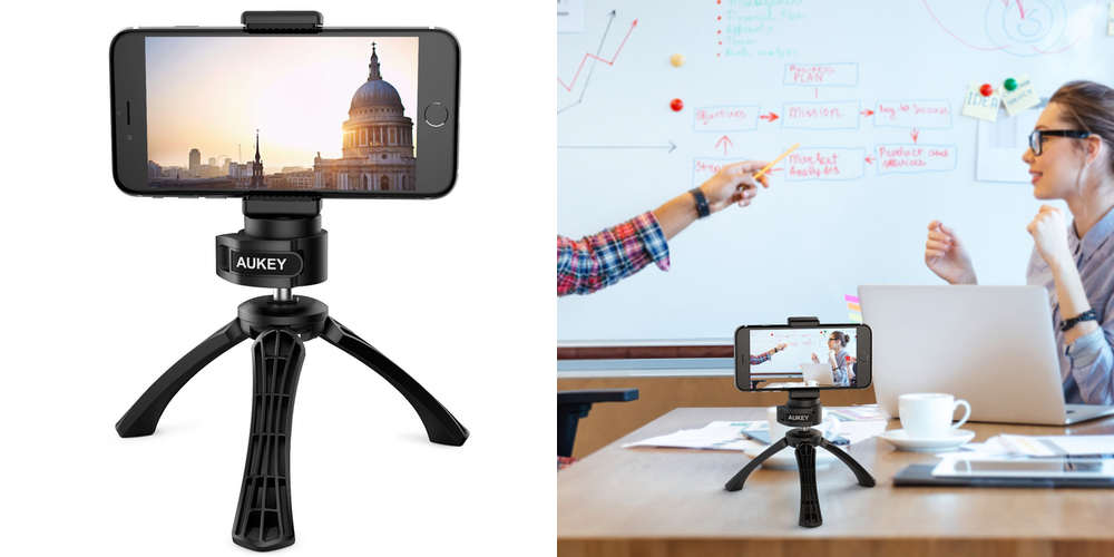 Take steady shots with these Aukey iPhone Tripods from $8 at Amazon
