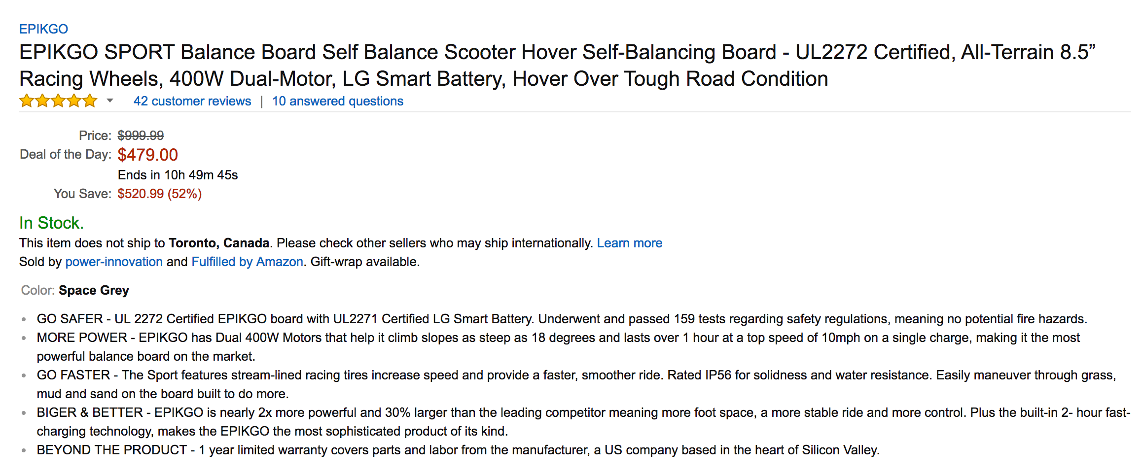 Why Walk If You Can Take A Hoverboard The Self Balancing Epikgo Go Balance Board Sport Sale 03