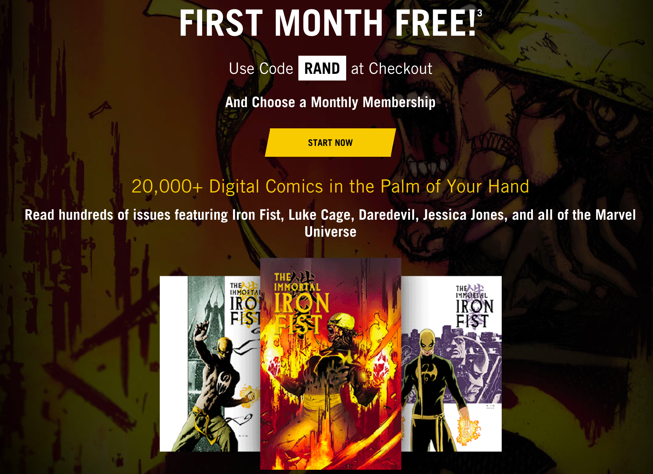 subscription from Marvel Unlimited