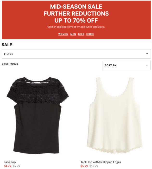 9084bb141 H M s Mid-Season Sale offers up to 70% off men and women s clothing ...