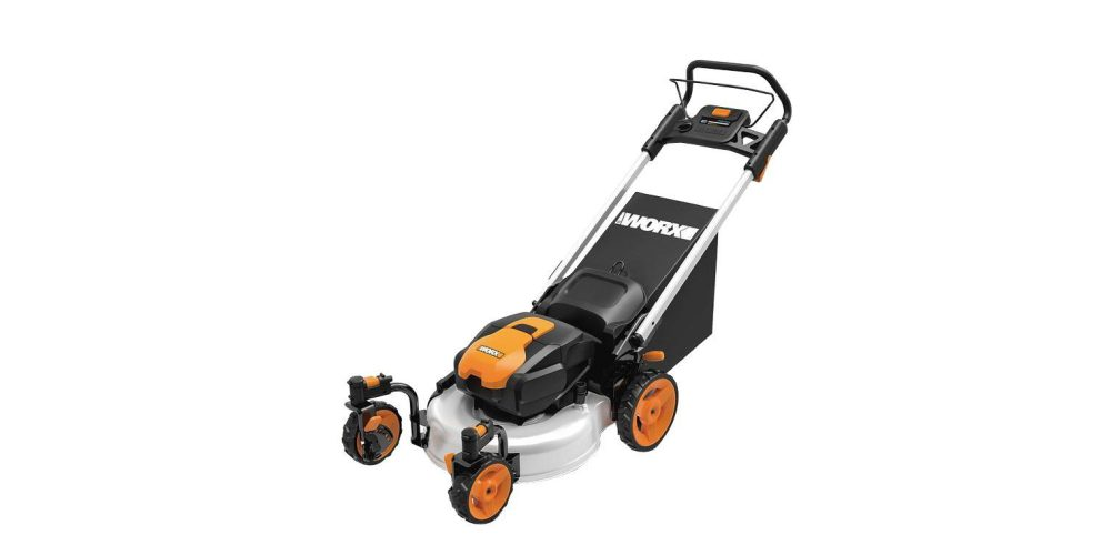 Green Deals Worx Wg771 19 Inch 56v Cordless Electric Lawn